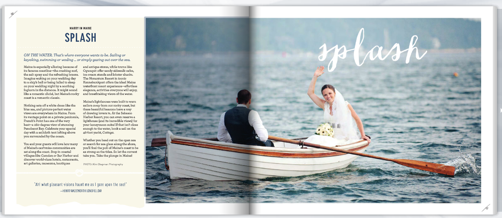 Canoeing Bride and Groom