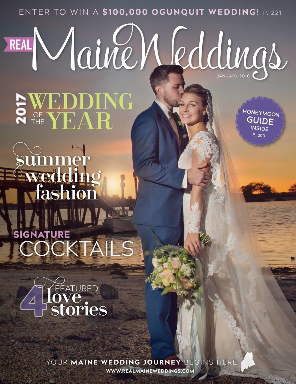 Real Maine Weddings Magazine Cover