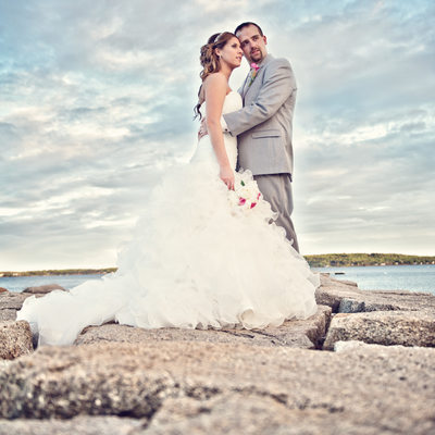 Samoset wedding photographer kim chapman on jetty!