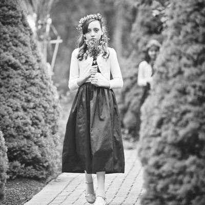 A SOMBER JUNIOR BRIDESMAID AT CLAY HILL FARM