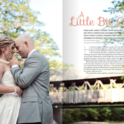 Published Maine Wedding Photographer