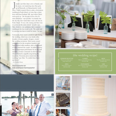 Peak's Island Maine Weddings Feature