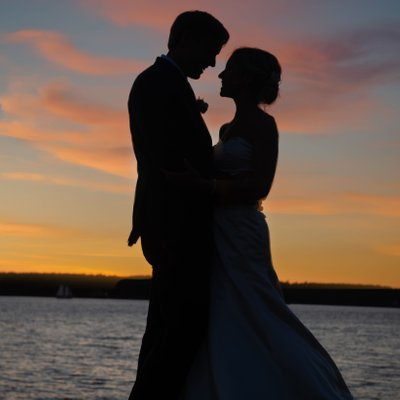 Spruce Point Inn wedding photographer captures the sunset!