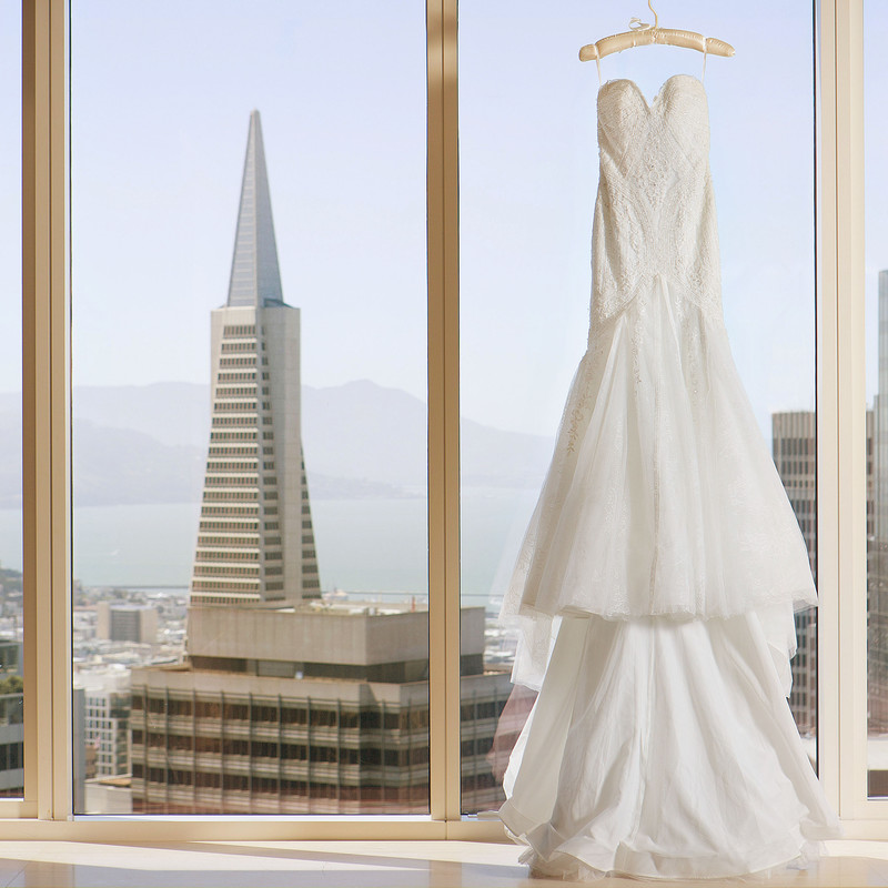 Chanel Wedding Gown Transamerica Building San Francisco