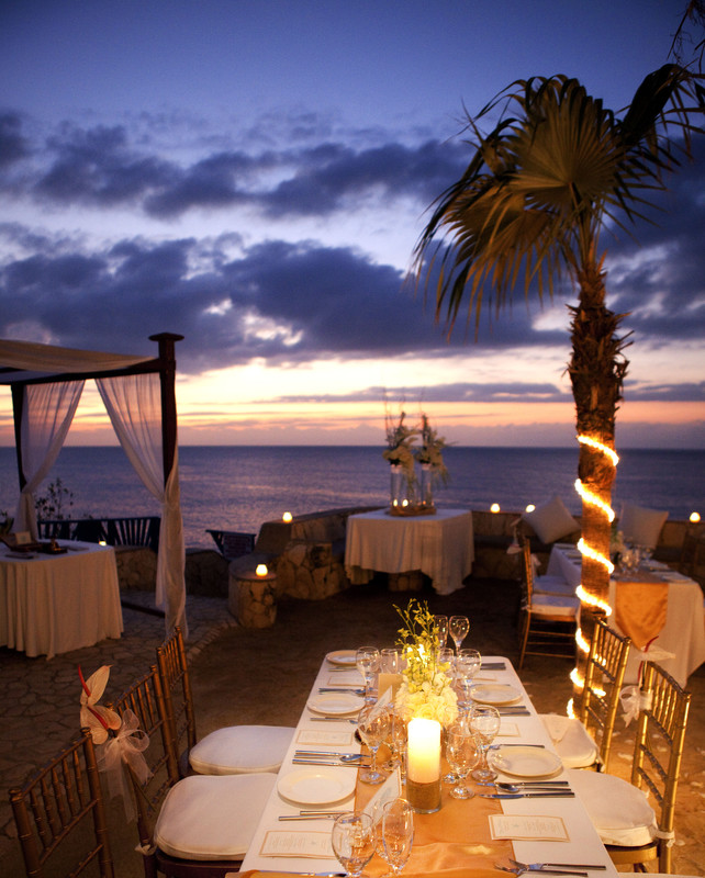 Jamaica Sunset Outdoor Wedding Reception