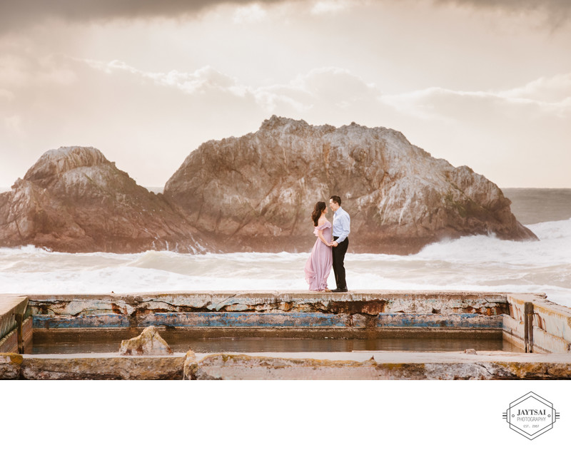 Sutro Baths Engagement Portrait