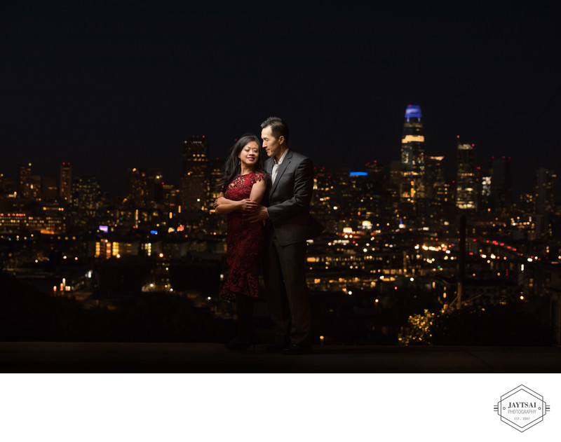 Engagement Portrait at Potrero Hill