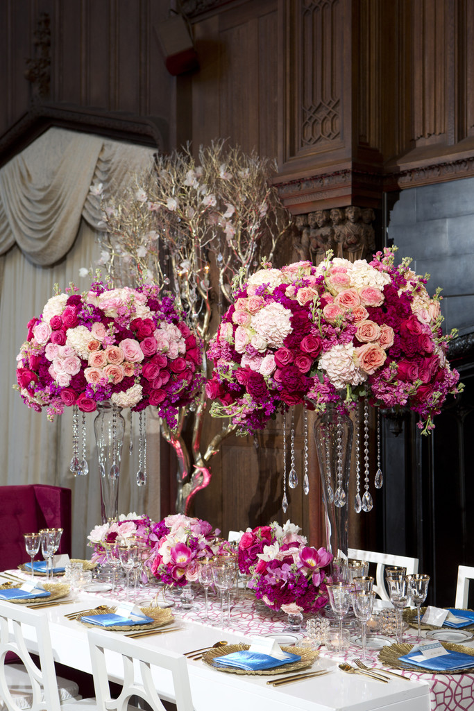 Kohl Mansion Wedding Centerpieces at Reception