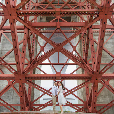 Golden Gate Bridge Engagement Photographer Red Fog