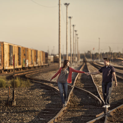 Bay Area Engagement Photographer Train