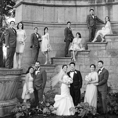 Bridal Party Photo Palace of Fine Arts San Francisco