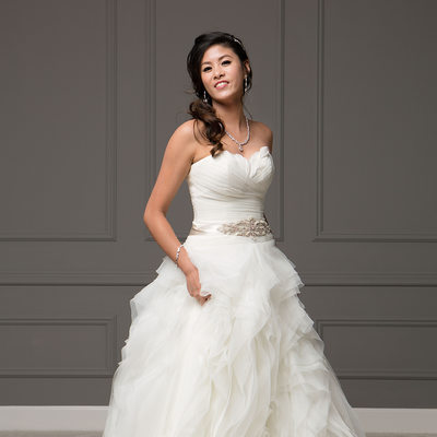 Couture Studio Wedding Portrait - Bride Alone