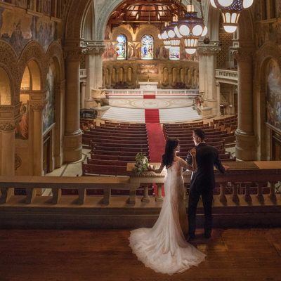 Wedding Portrait at Memorial Church