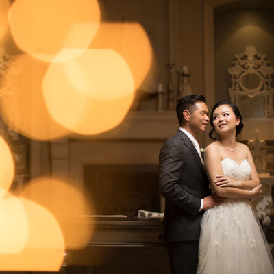 Romantic wedding portrait at Oceano Hotel and Spa