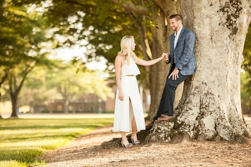 Engagement photo furman university with Gassaway mansion