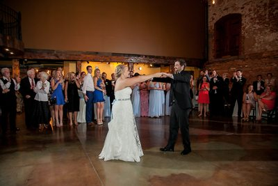 Bride and Groom Dance at Old Cigar Warehouse