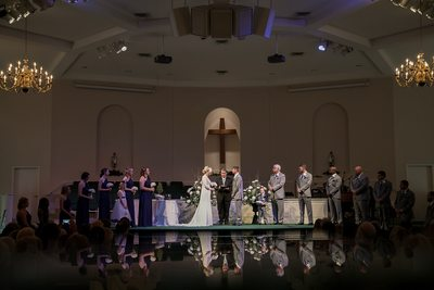 Wedding photo at hepsibah baptist church, Seneca, SC