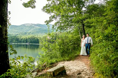 Wedding Couple Bride Groom Table Rock Lodge, SC