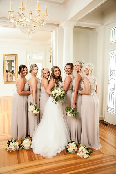 Wedding Bridesmaids at Rocky River Plantation, Anderson