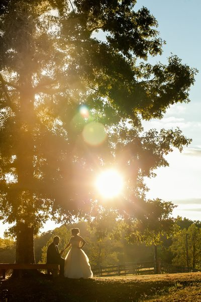 Sunset Wedding at Arran Farm, Easley, SC