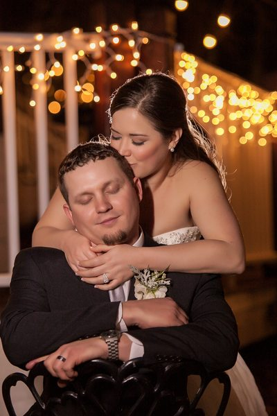 Ryan Nicholas Inn romantic wedding couple photo low light