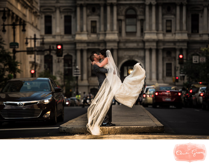 Broad Street Philadelphia Wedding Photo