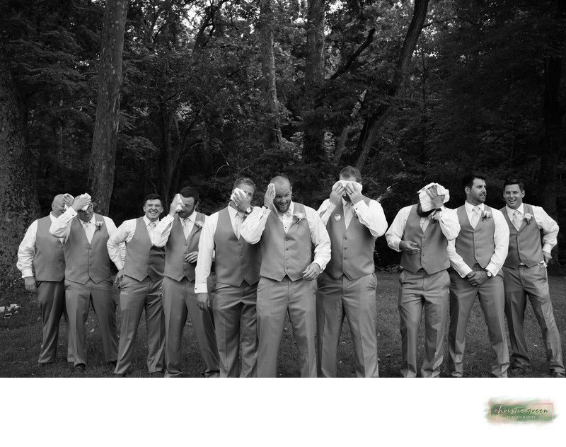Groom and groomsmen fun photographs