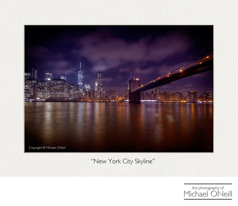 Collectible Fine Art Photography NYC Skyline Brooklyn Bridge