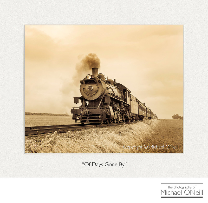 Vintage Steam Locomotive Fine Art Photograph