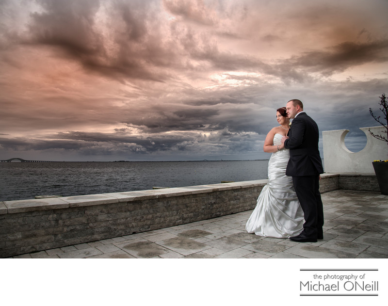 Bad Weather Wedding Photos Venetian Yacht Club