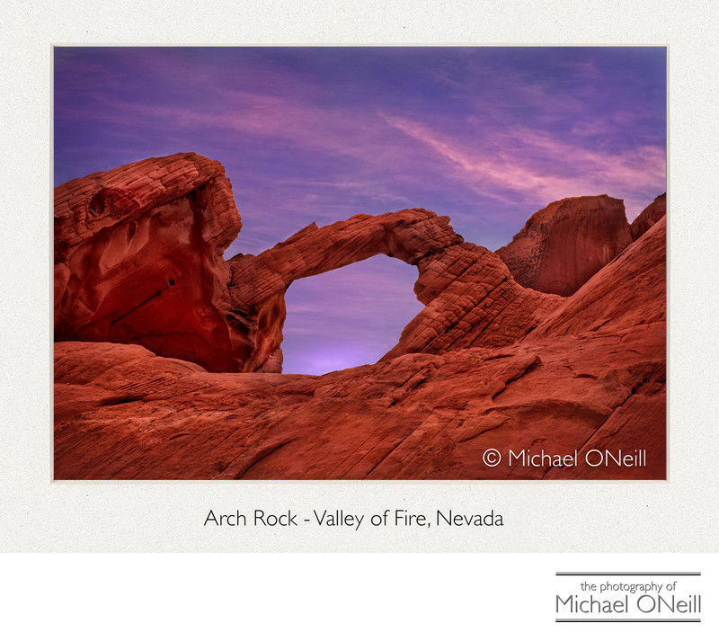 Arch Rock Valley of Fire Nevada Desert