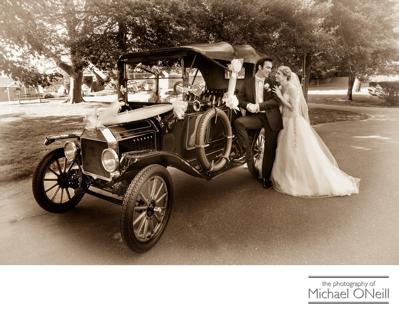 Antique Car Wedding Pictures Northport NY