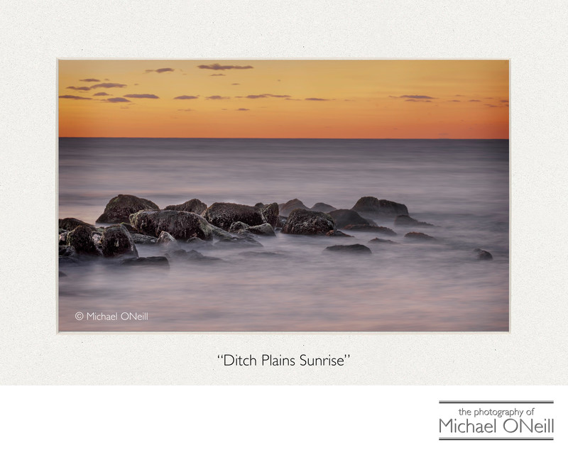 Sunrise at Ditch Plains Beach Montauk NY Fine Art Photo