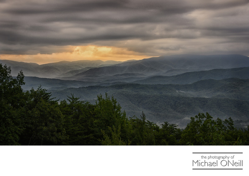 Great Smoky Mountains Sunrise By Motorcycle