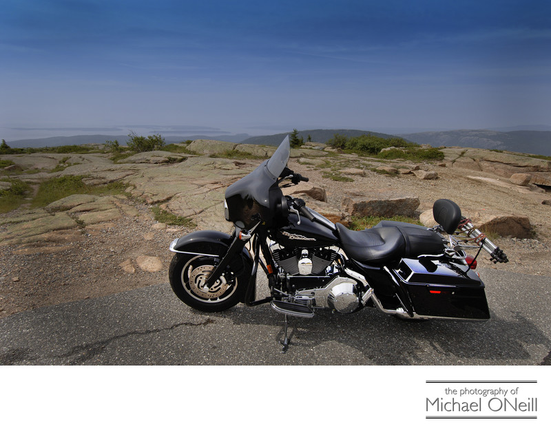 Cadillac Mountain Acadia National Park Motorcycle Trip