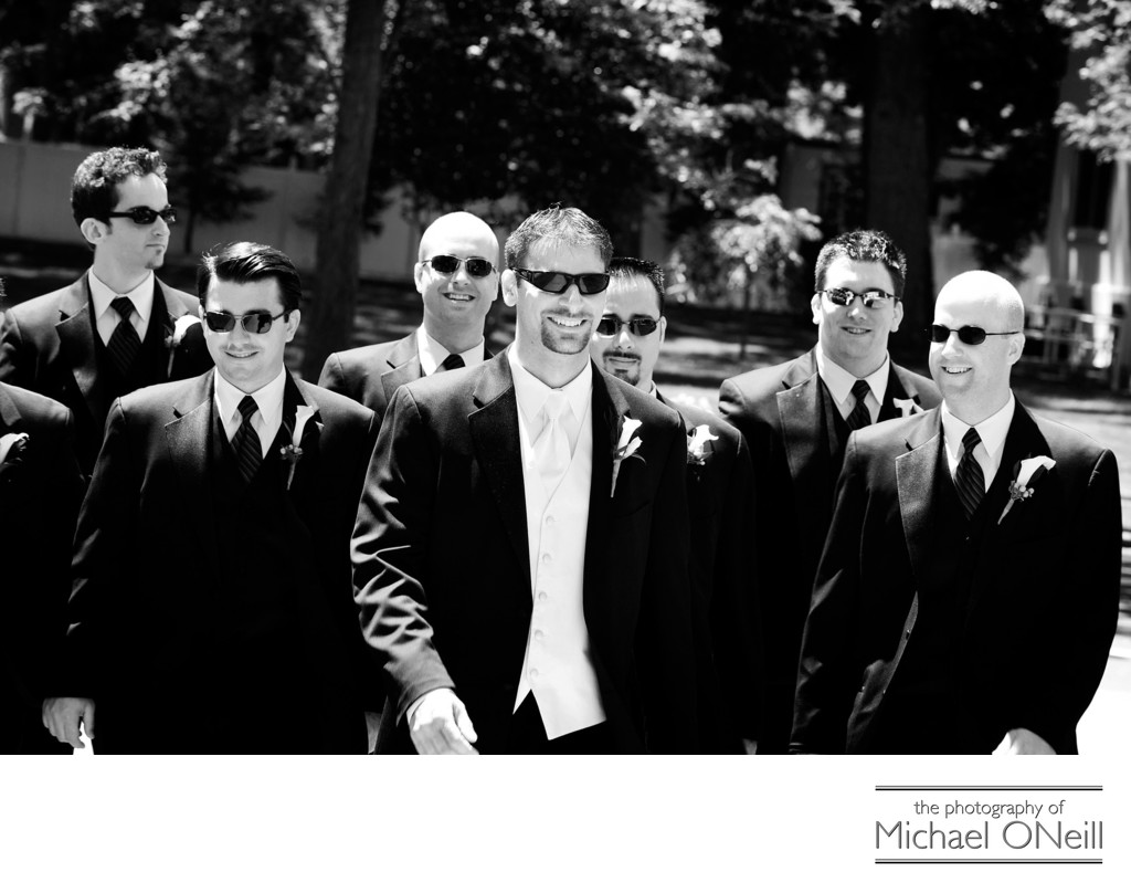 Fun Long Island Wedding Photography Groomsmen