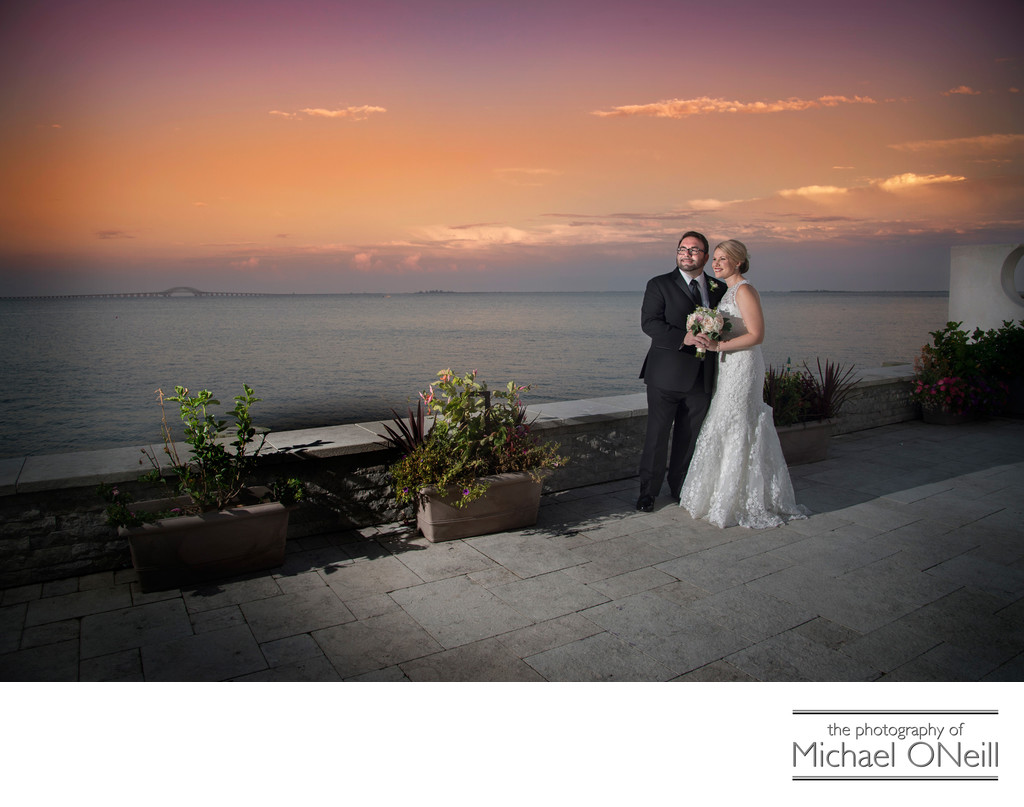 Waterfront Sunset Weddings Long Island New York