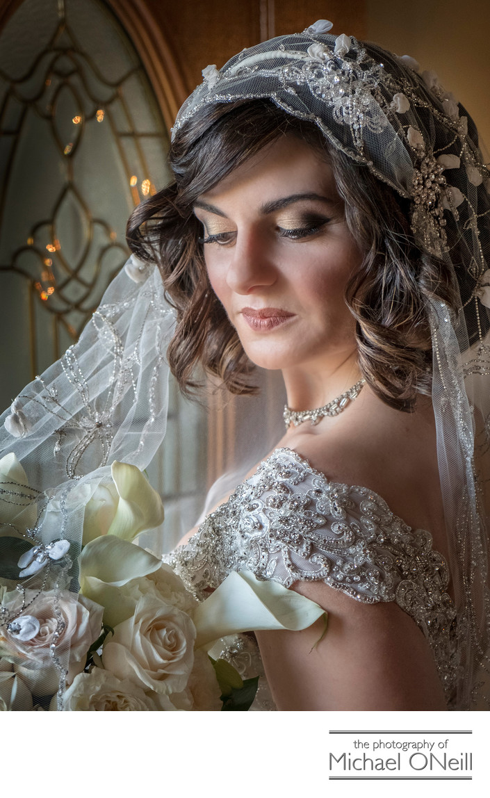 Vintage Style Wedding Dress Headpiece Veil Photos