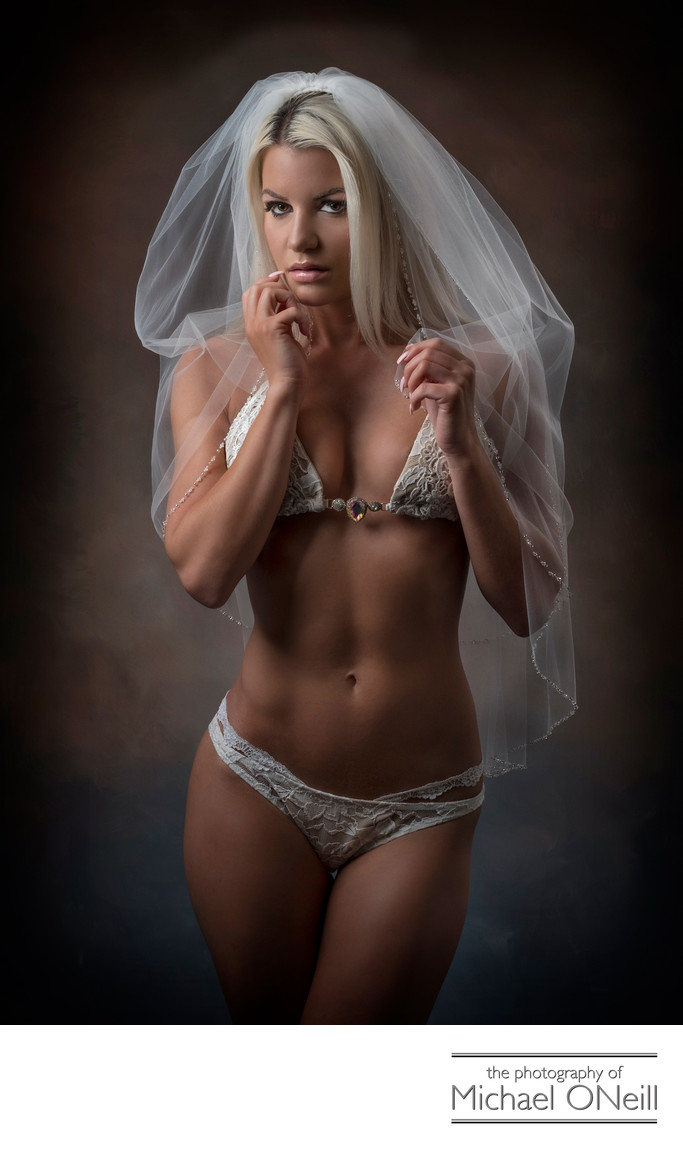 Bride's Gift To Groom Bridal Boudoir Photograph