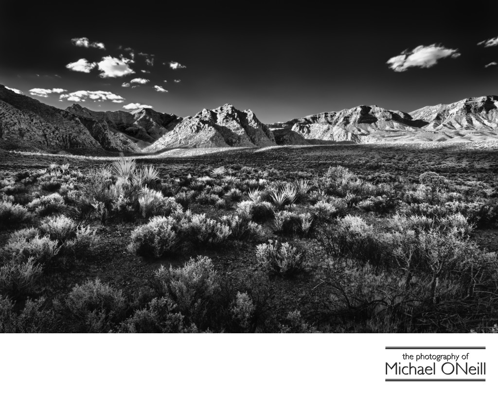 Infrared Fine Art Photography Red Rock Canyon Nevada