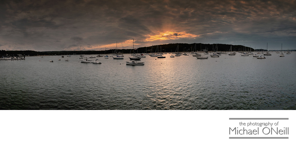 Fine Art Photography Northport Harbor NY Panorama