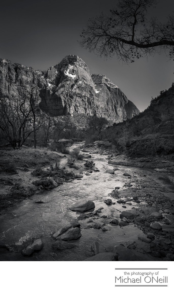 Zion National Park Ansel Adams Inspired Fine Art Photograph