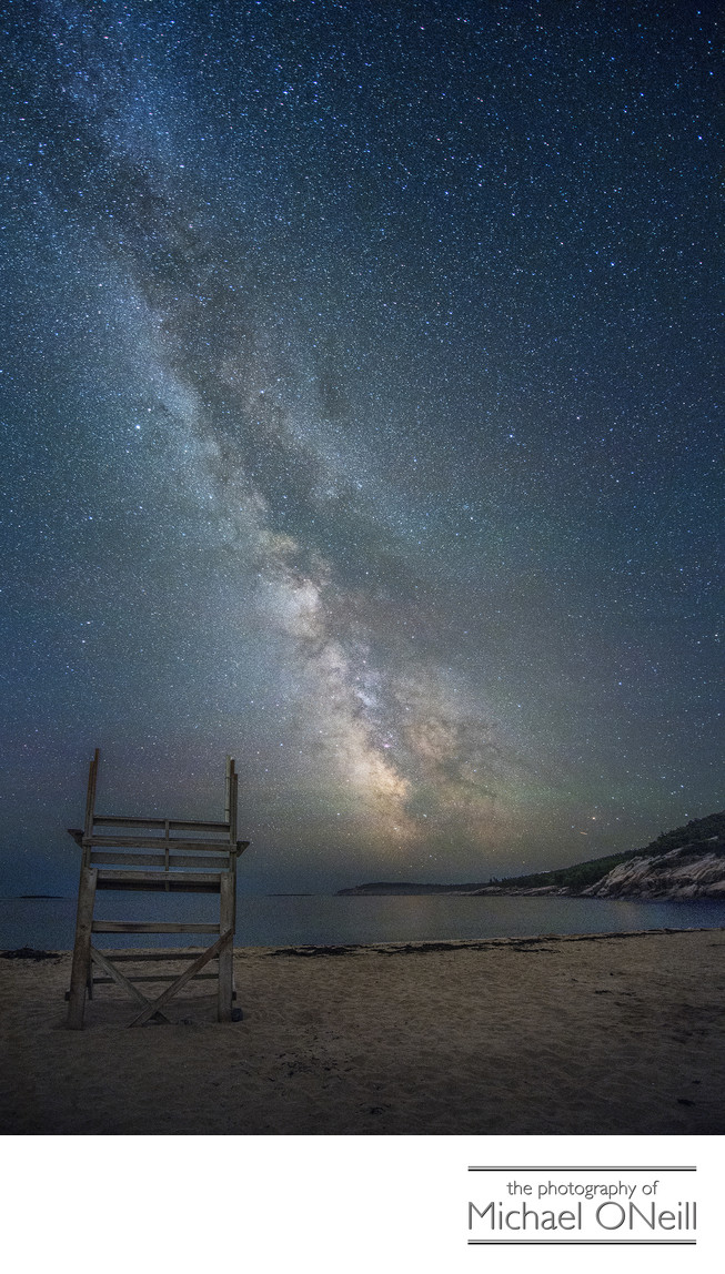 Milky Way Acadia National Park Motorcycle Trip Photograph