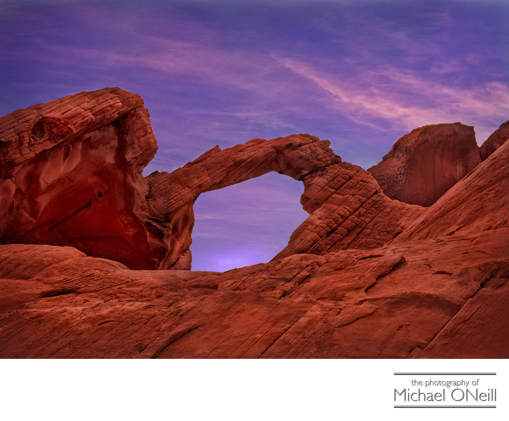Arch Rock Valley of Fire Motorcycle Trip