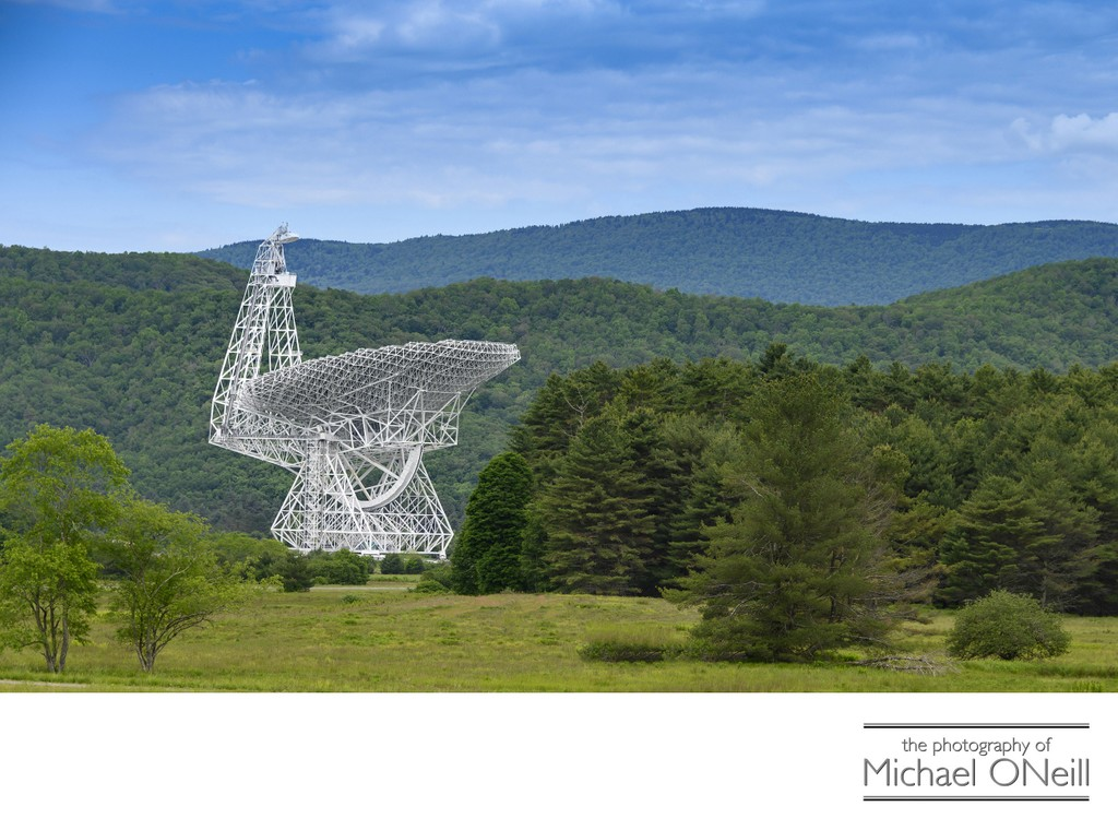 Green Bank Observatory Radiotelescope West Virginia Motorcycle Tour