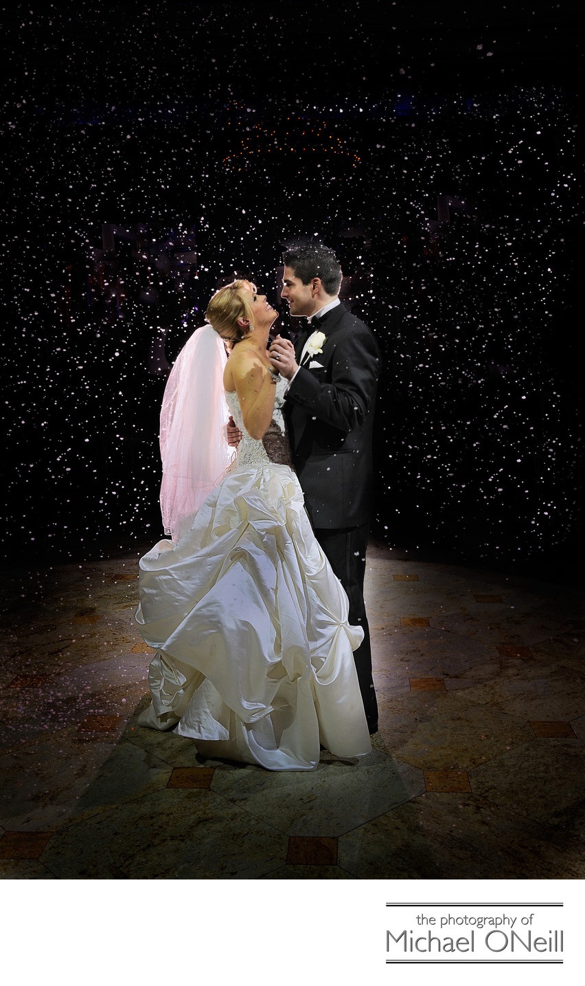 Wedding First Dance Pictures Snow