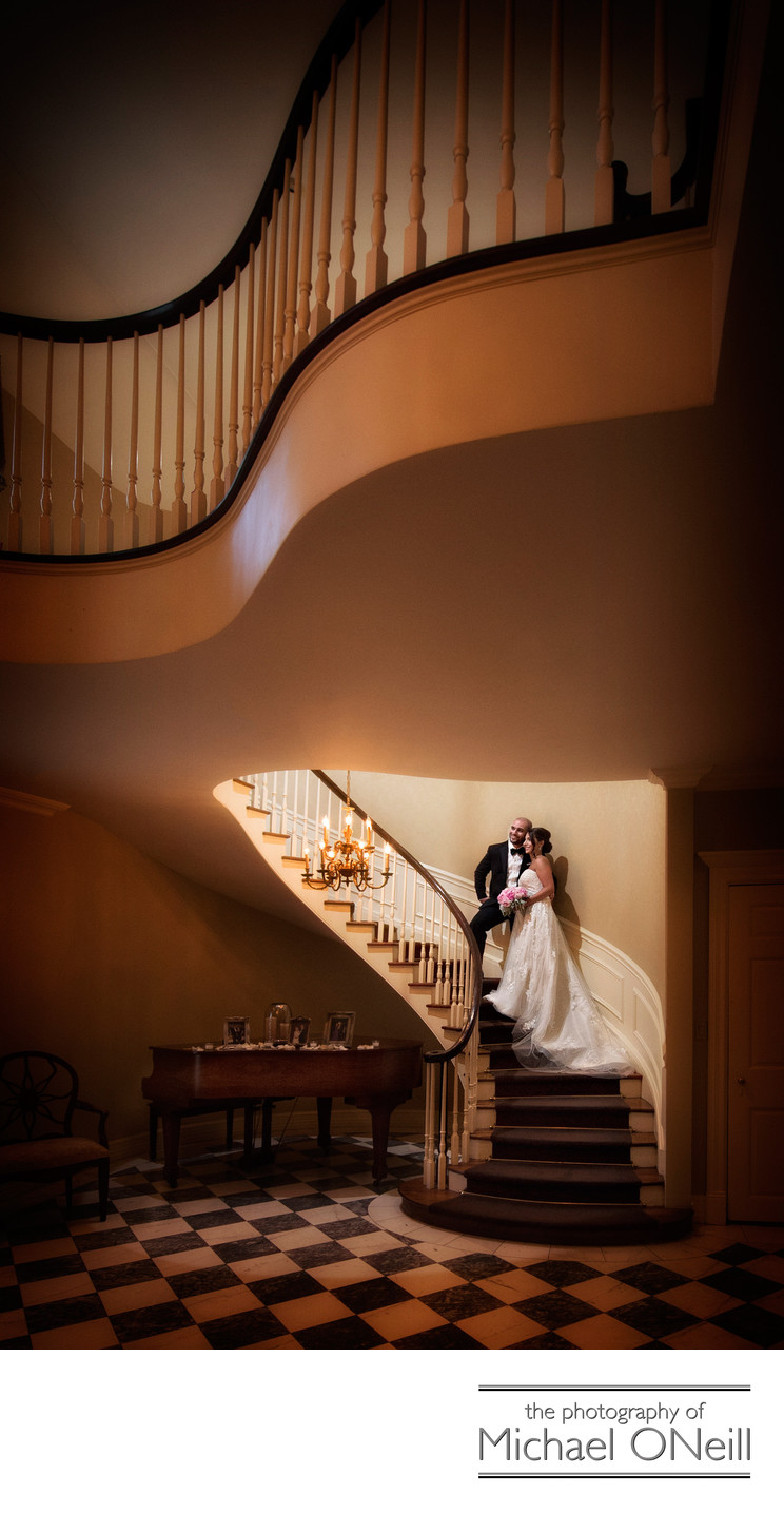 Royalton Mansion Staircase Wedding Pictures