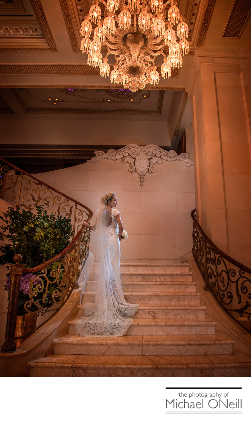 Plaza Hotel NYC Grand Staircase Wedding Picture