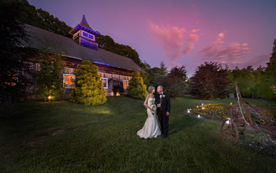 Barn Wedding Sunset Photograph Long Island