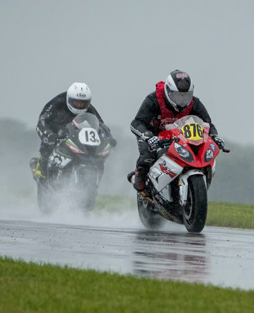 Motorcycle Road Racing Rain Shine Photos East Coast US